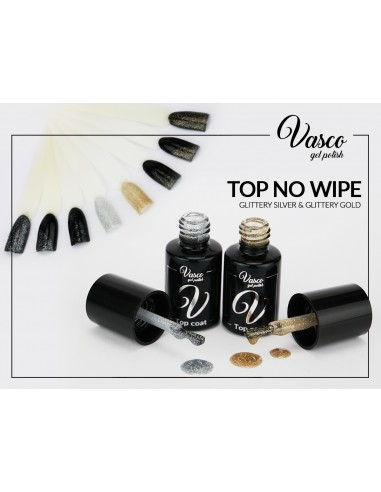 Top no wipe VASCO 6 ml Glittery Silver